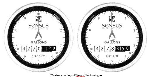 Sensus meter reading comparison