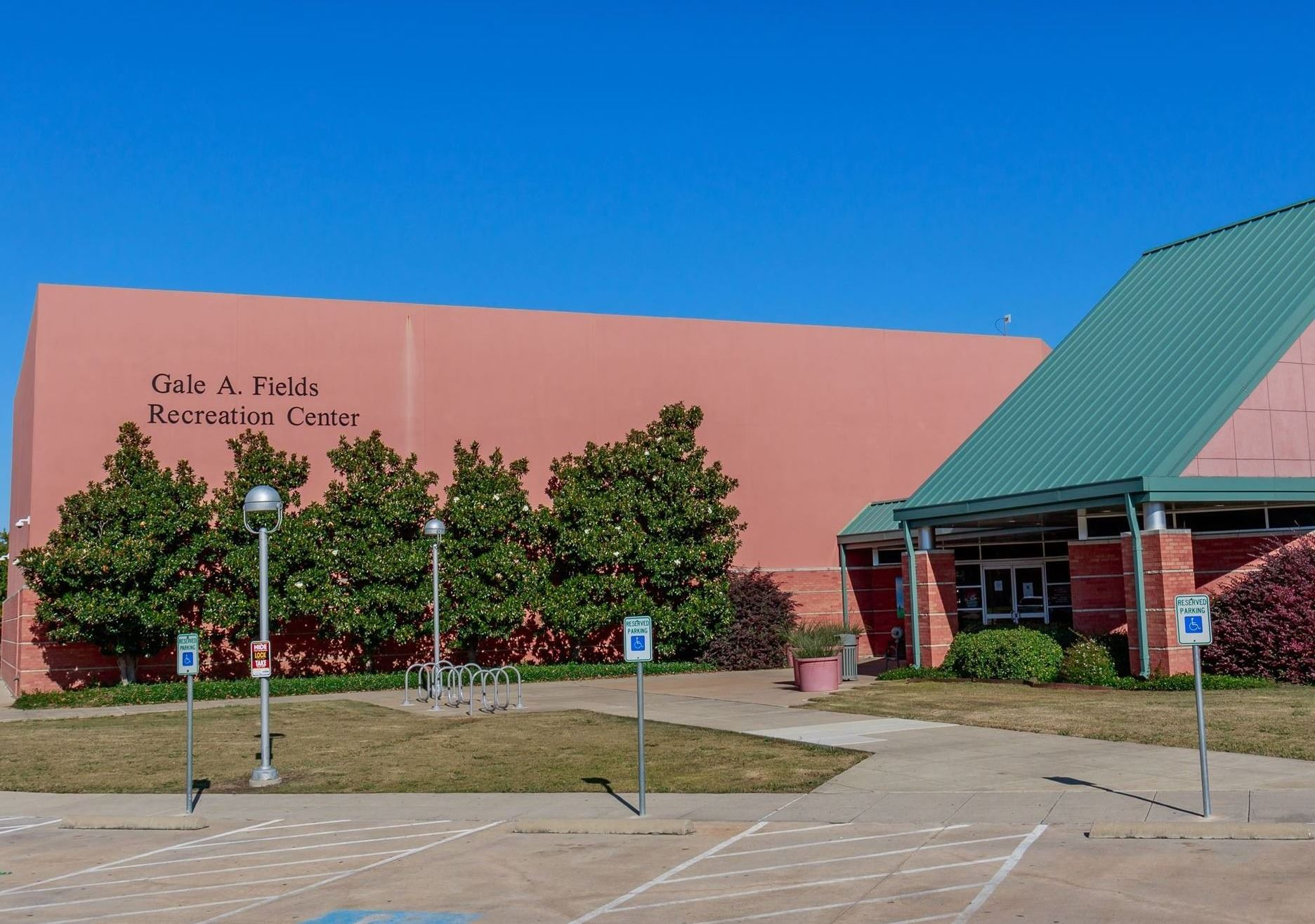 Fields Rec Center front door