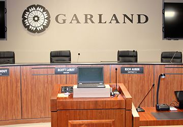 Photo of City Council Dais